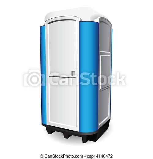 Omtyckta Toalett, bärbar. Toalett, använd, illustration., mobil, places PH-03