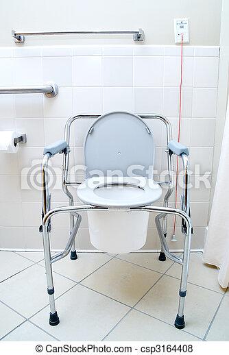Kända Toalett, bärbar. Patienten, toalett, sjukhus, latrine., bärbar. UZ-48