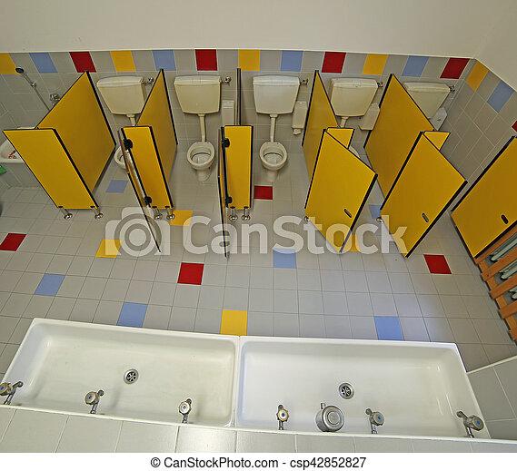 Toalety łazienka Wnętrze Szkoła Pokój Dziecinny Mały