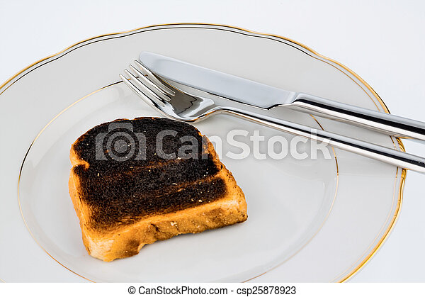 toast, pain, brûlé, tranches - csp25878923