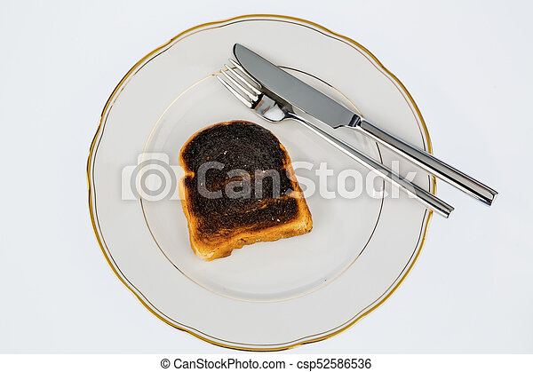 toast, tranches, brûlé, pain - csp52586536