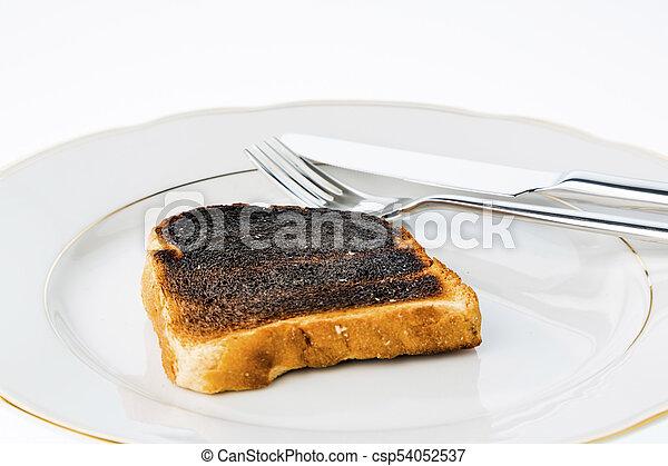 toast, tranches, brûlé, pain - csp54052537