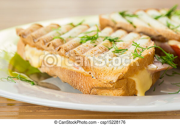 toast with cheese - csp15228176