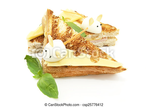 toast with cheese - csp25776412