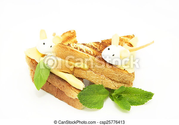 toast with cheese - csp25776413