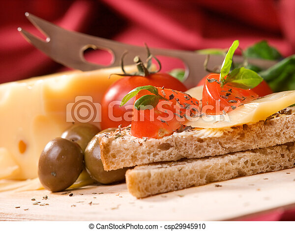 Toast with cheese - csp29945910