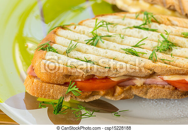toast with cheese - csp15228188