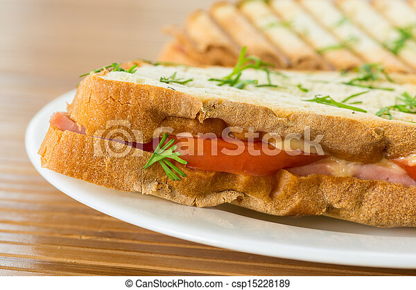 toast with cheese - csp15228189