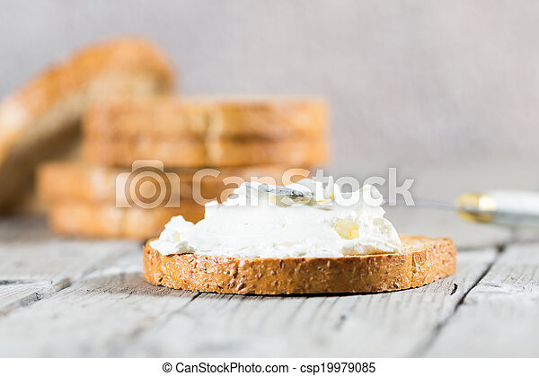 Toast with cheese - csp19979085
