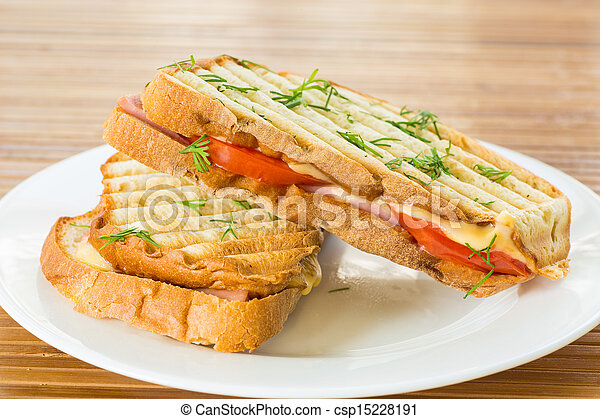 toast with cheese - csp15228191