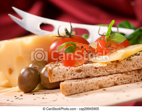 Toast with cheese - csp29945905