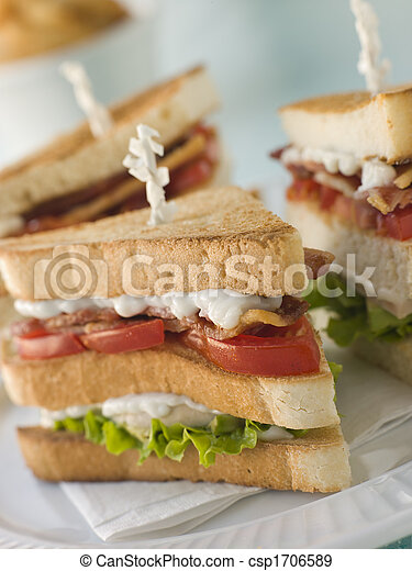 Toasted Triple Decker Club Sandwich with Fries - csp1706589