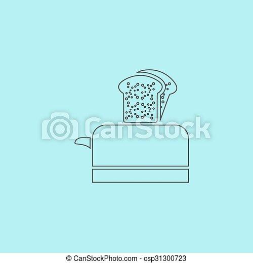 toaster icon - csp31300723