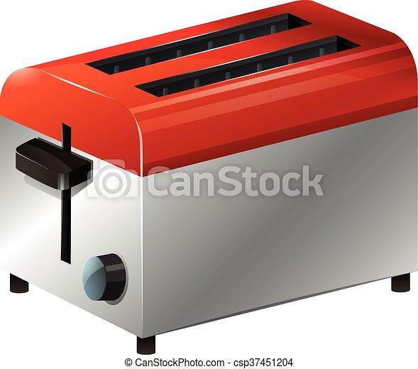 Toaster on white background - csp37451204