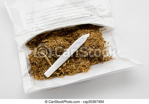 tobacco and hand made cigarette - csp30367494