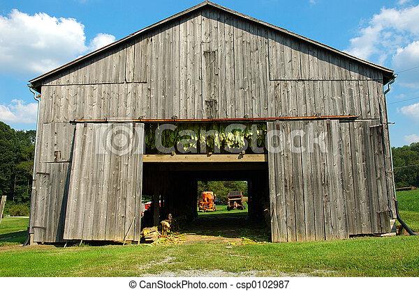 Tobacco barn a tobacco barn in kentucky usa tobacco hangs for Tobacco barn house plans