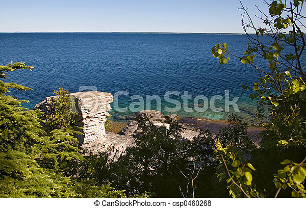 tobermory sea wide view - csp0460268