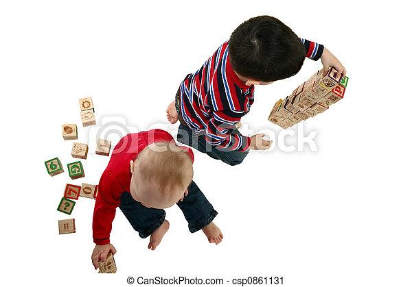 tocando, toddlers - csp0861131