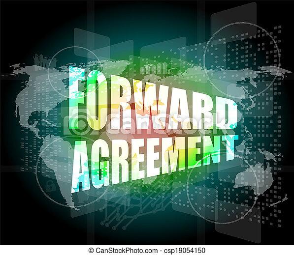 tocco, avanti, schermo, accordo, affari - csp19054150