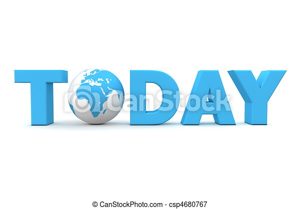 Today World Blue - csp4680767
