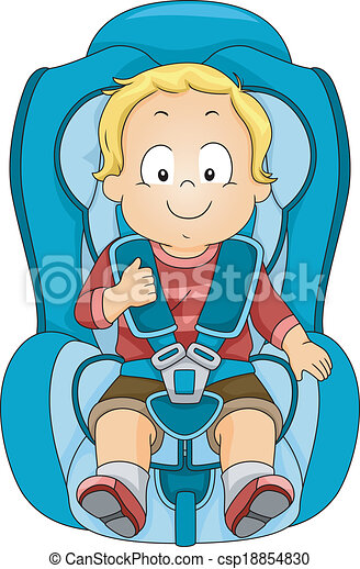 Toddler Car Seat Illustration Of A Strapped To