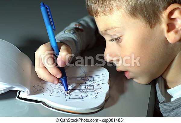 Toddler Drawing - csp0014851