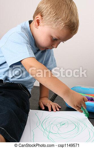 Toddler Drawing - csp1149571