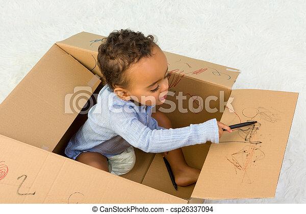 Toddler drawing - csp26337094