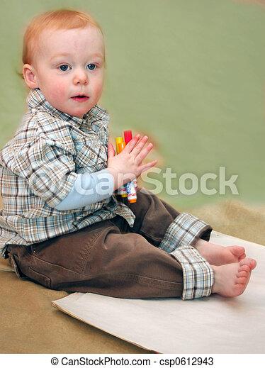 Toddler drawing - csp0612943