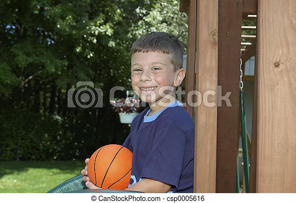 Toddler on Playset - csp0005616