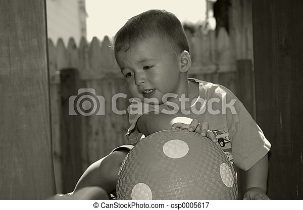 Toddler With Ball - csp0005617