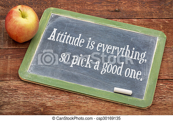 La actitud lo es todo - csp30169135
