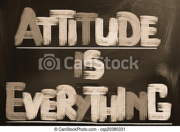 La actitud es todo concepto - csp20380331