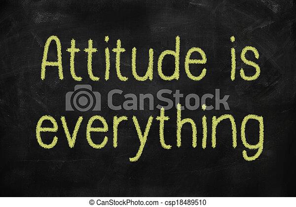 La actitud es todo concepto positivo - csp18489510