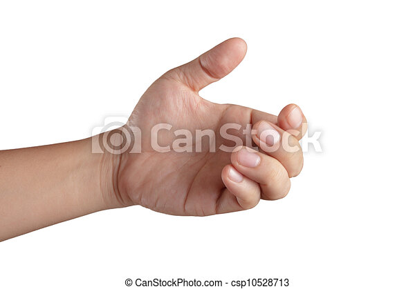 Mano abierta mostrando los cinco dedos - csp10528713