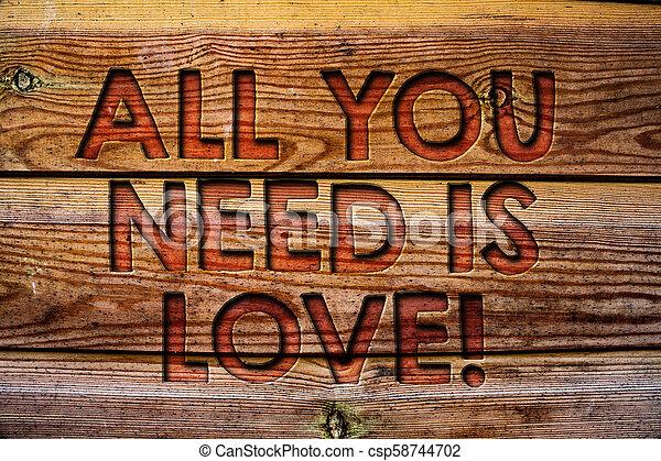 Escribir Textos Todo Lo Que Necesitas Es Amor Motivacional