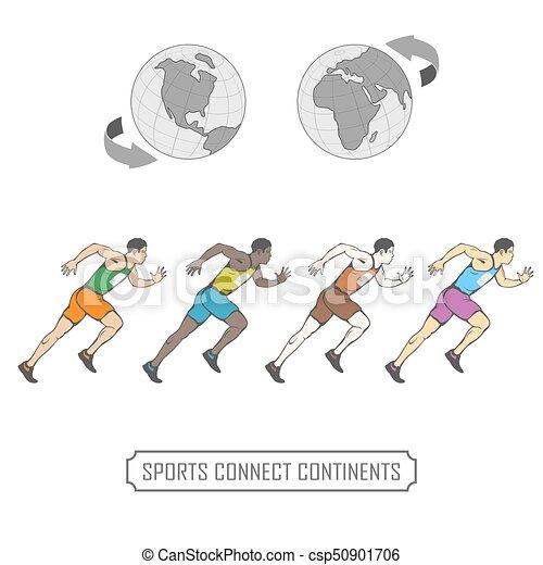 Los deportes unen a todos los pueblos de nuestro mundo - csp50901706