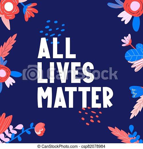 todos, vidas, texto, asunto, flowers., etiqueta - csp82078984