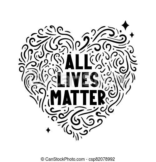 todos, vidas, texto, heart., asunto, etiqueta - csp82078992