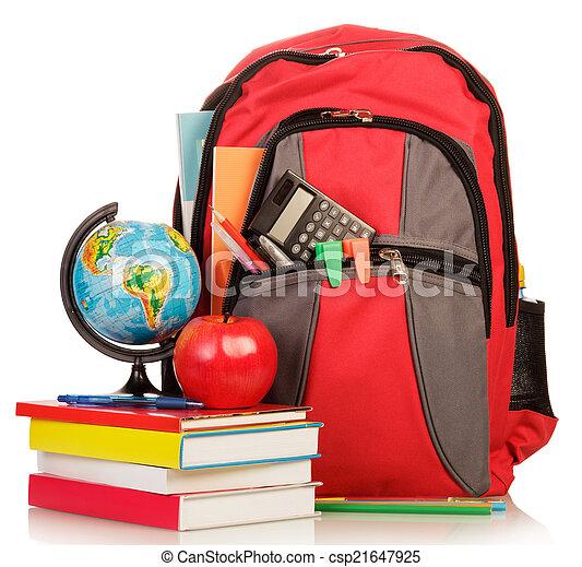 toebehoren, school, schooltas - csp21647925
