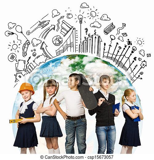 toekomst, beroep, kies - csp15673057