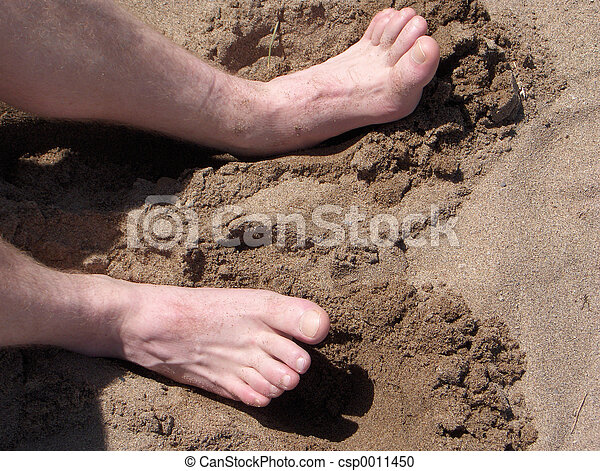 Toes in Sand - csp0011450