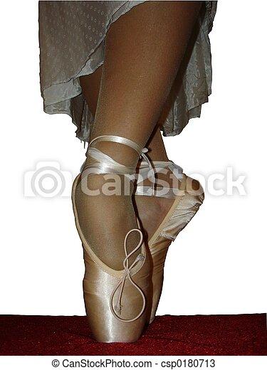 tofflor, balett - csp0180713