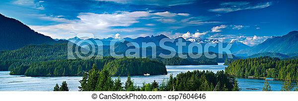 tofino, canada, isola, panoramico, vancouver, vista - csp7604646