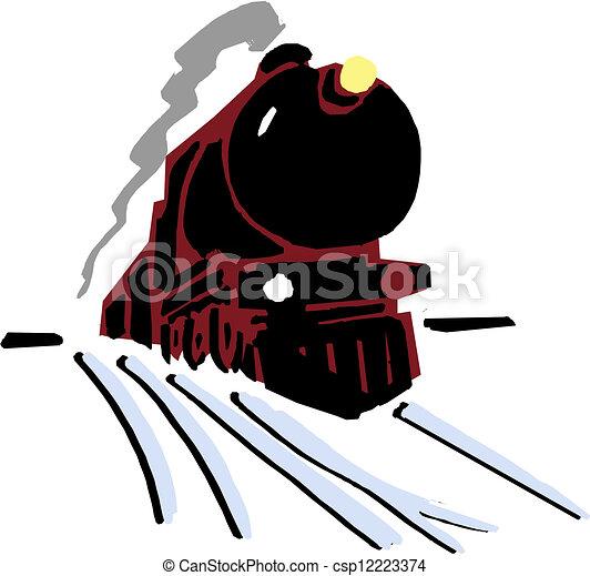 tog, silhuet - csp12223374