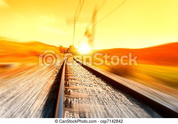 tog, skinne - csp7142842