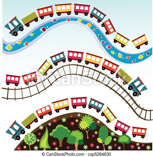 tog, stykke legetøj, mønster - csp5264630