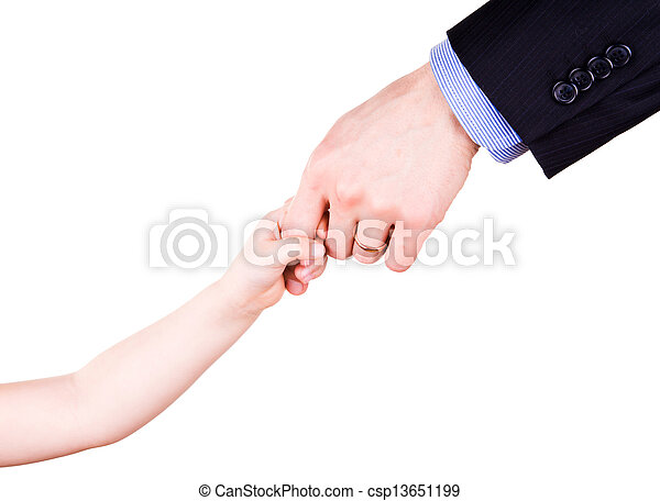 togethterness, 父, 手。, サポート, 信頼, 子を抱く, concept. - csp13651199