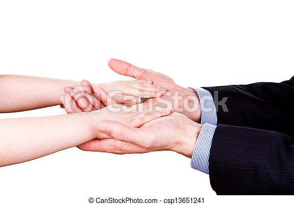 togethterness, 父, 手。, サポート, 信頼, 子を抱く, concept. - csp13651241