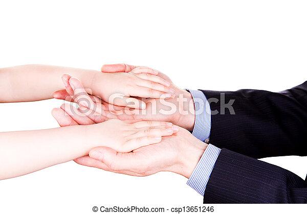 togethterness, 父, 手。, サポート, 信頼, 子を抱く, concept. - csp13651246